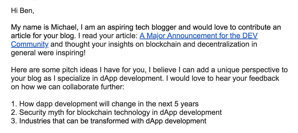 Ben Halpern On Twitter I Found This Spam Email Particularly Funny