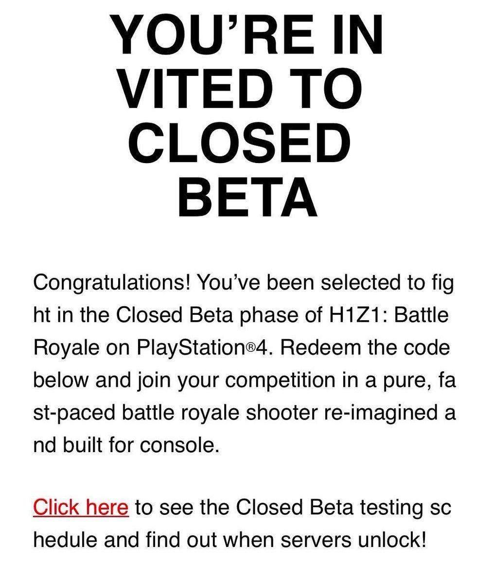 h1z1 closed beta