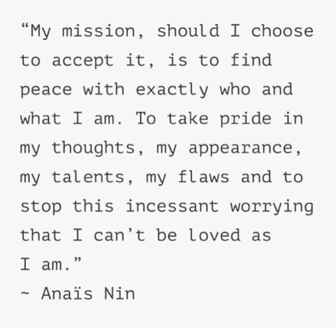 Beautiful inspiration from my friend @NadiaNarain ! #AnaisNin