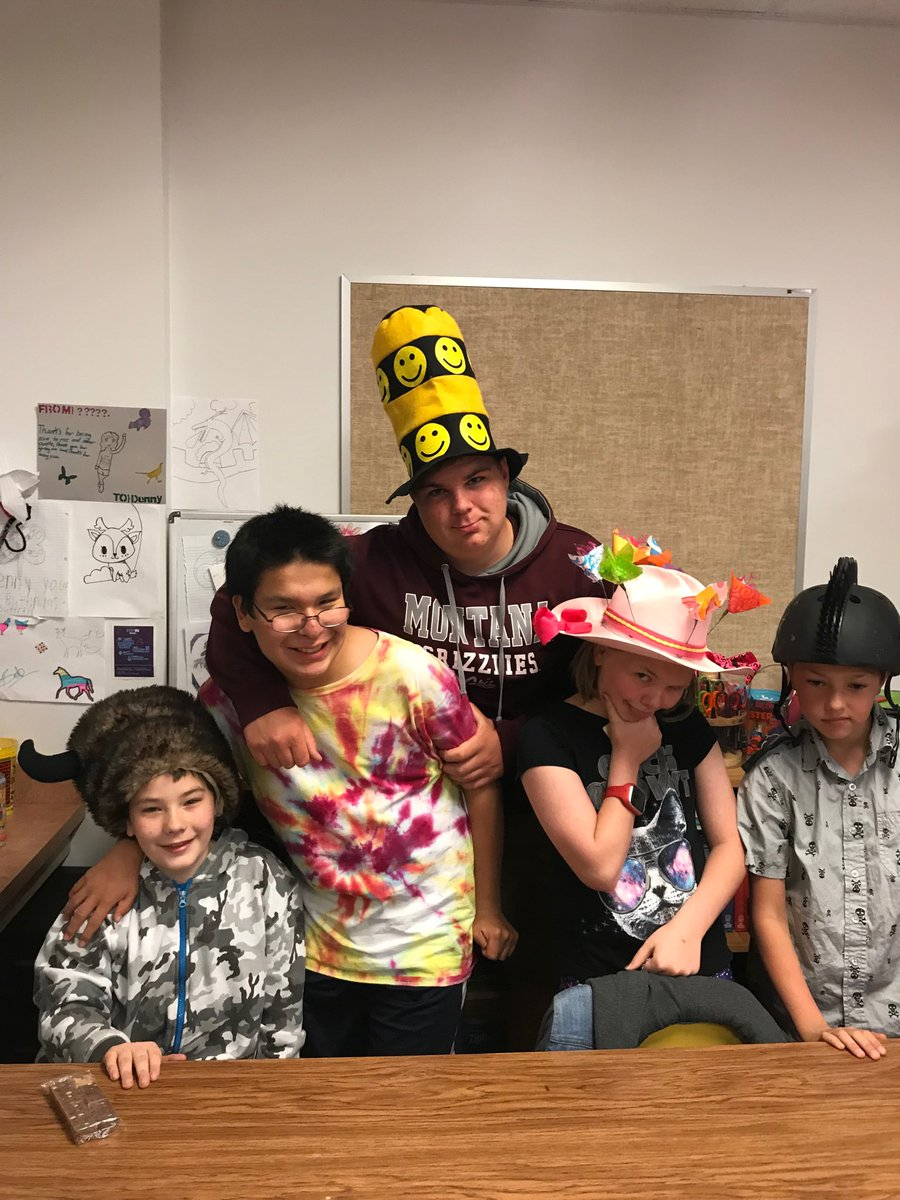 Hat Day at LMS! Royce is rocking the Official Order of the Water Buffalo! #lmslocos #cashforacause