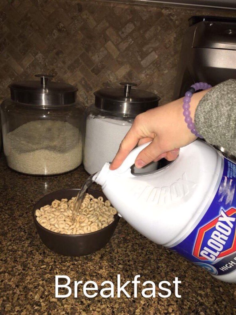 Image result for clorox for breakfast