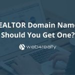 .REALTOR Domain Names: Should You Get One? https://t.co/iD23TKEUO9
