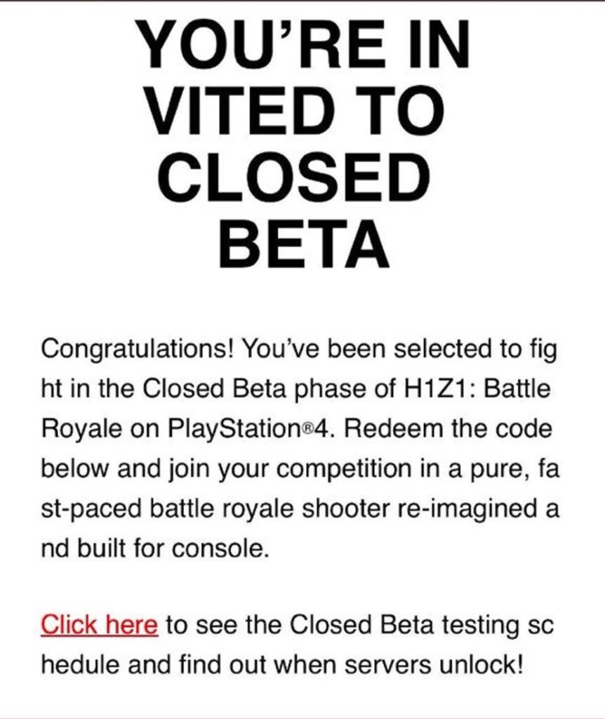 h1z1 ps4 codes