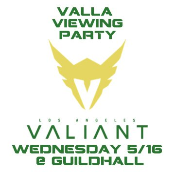 Do you like #valla themed drinks? Is @lavaliant swag, your favorite swag? Then join us TOMORROW for our #lavaliant viewing party! https://t.co/wBJ43QIWmg.