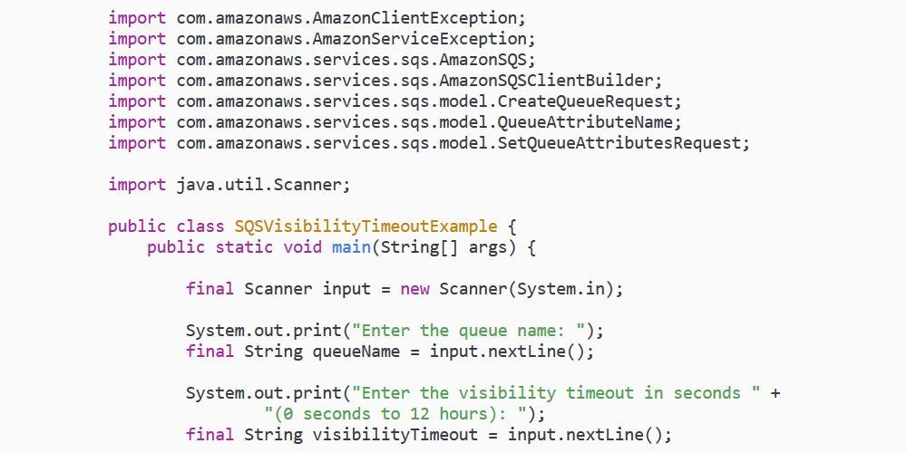 Amazon sqs java