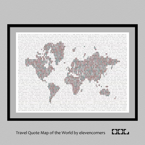 Elevencorners on twitter we like maps and we like travel quotes so we put them both together and came up with a world map made of travel quotes httpowf2g350hjdw1 travel travelquotes quotes trlt fernweh gumiabroncs Images