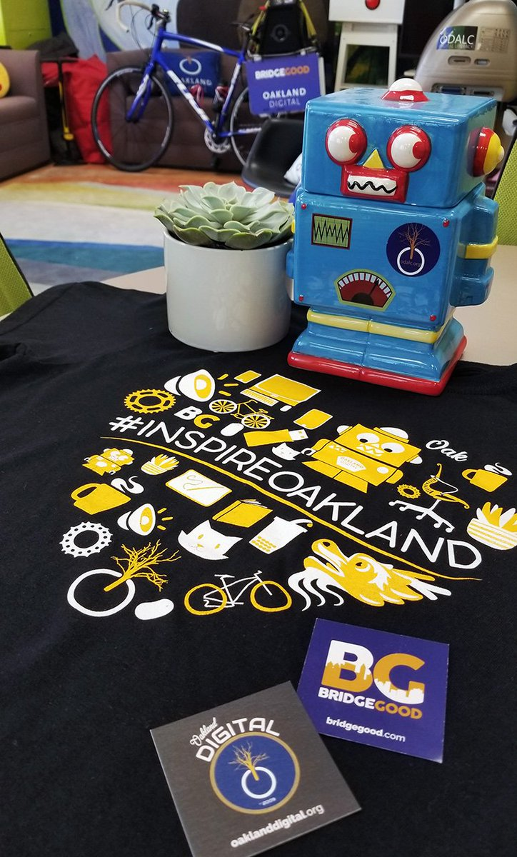 For the past 4 months, @OaklandDigital has worked with 20+ schools across the San Francisco Bay Area - Wed, May 16, the Top 16 #InspireOakland design students pitch their designs at #OaklandDigital HQ! Pretty dope #schwag, too.<br>http://pic.twitter.com/D3fPNot3UI