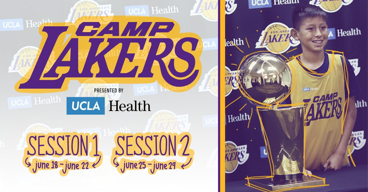 See the trophies, meet the players, and hoop the Laker way this summer at #CampLakers presented by @UCLAHealth.   Time is running out to register, and there are only a few spots left! Sign up today: lakers.com/camplakers