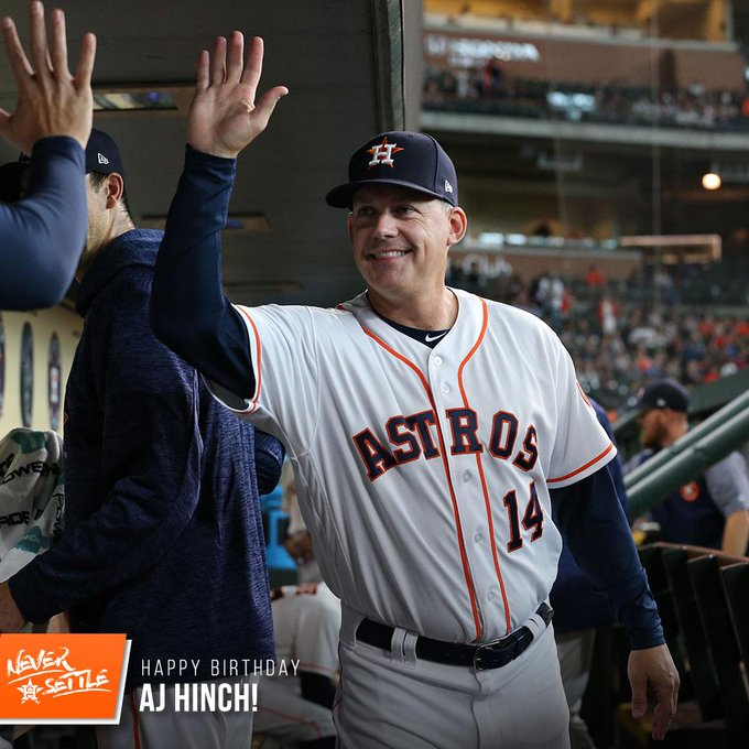 Happy birthday to manager, AJ Hinch!
