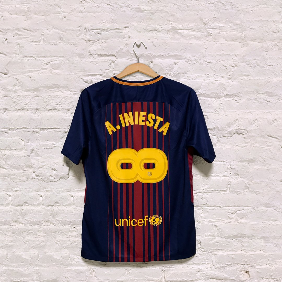 Barcelona have unveiled special edition Andres Iniesta shirts for his final game. (via @FCBarcelona)