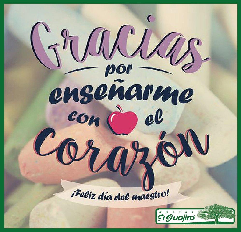 ¡Feliz día a todos los maestros! Les desea Bolsas el Guajiro :) https://t.co/T4a8Q2e4PX
