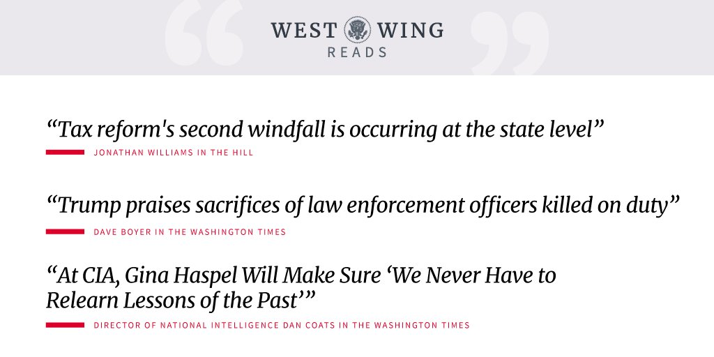 Tonight's edition of West Wing Reads: https://t.co/ELdQS2tnWO https://t.co/23DerUTRk5