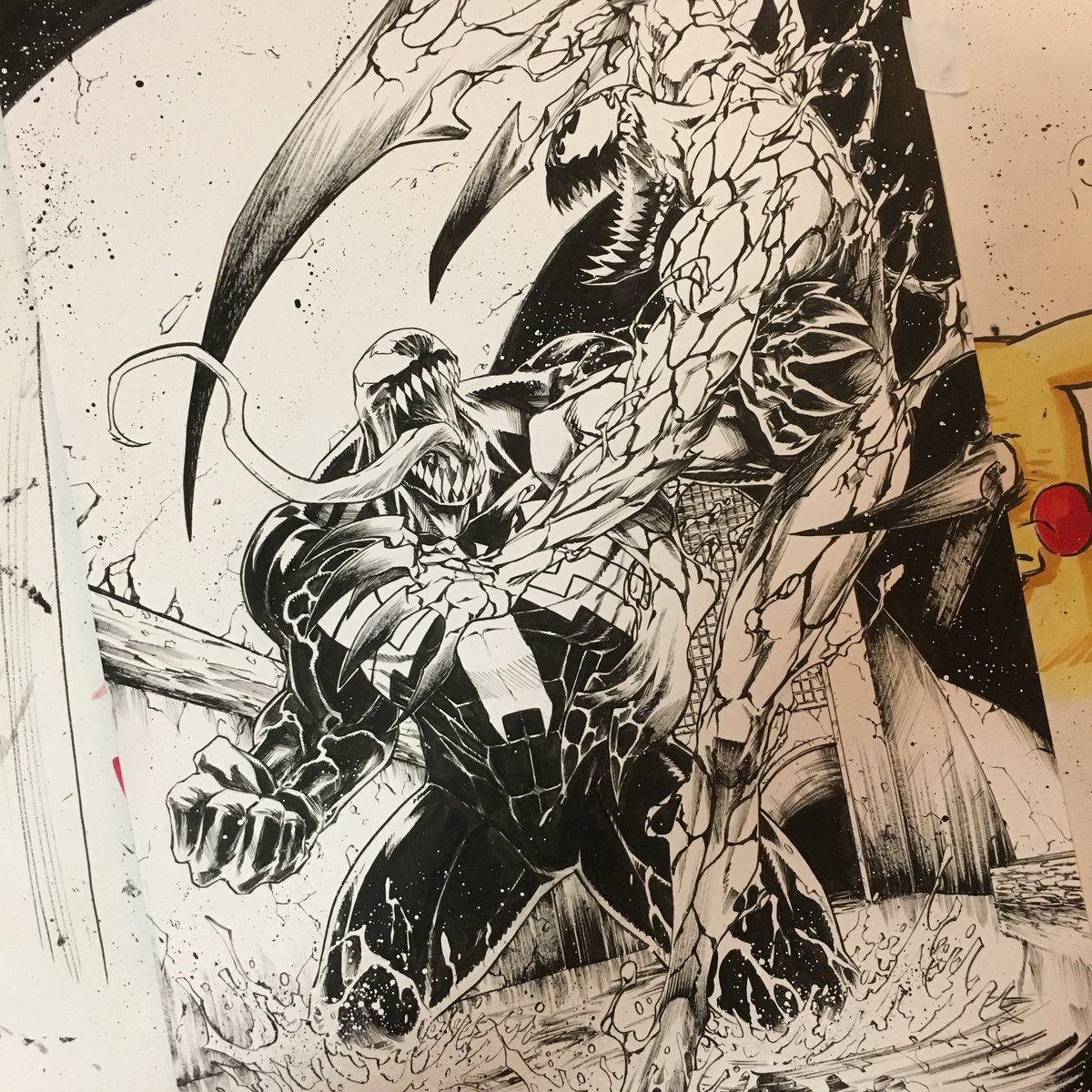 Creeesart On Twitter Finished This Venom Vs Carnage Piece Today On