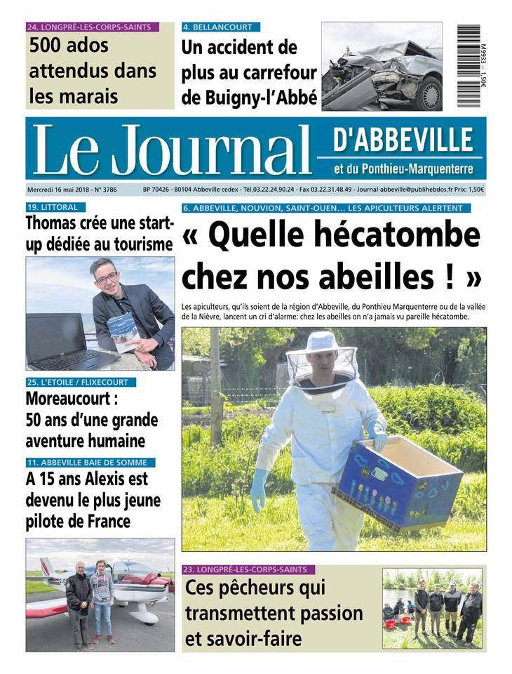 🇫🇷 Quelle hécatombe chez nos abeilles (Une Le Journal d'Abbeville)