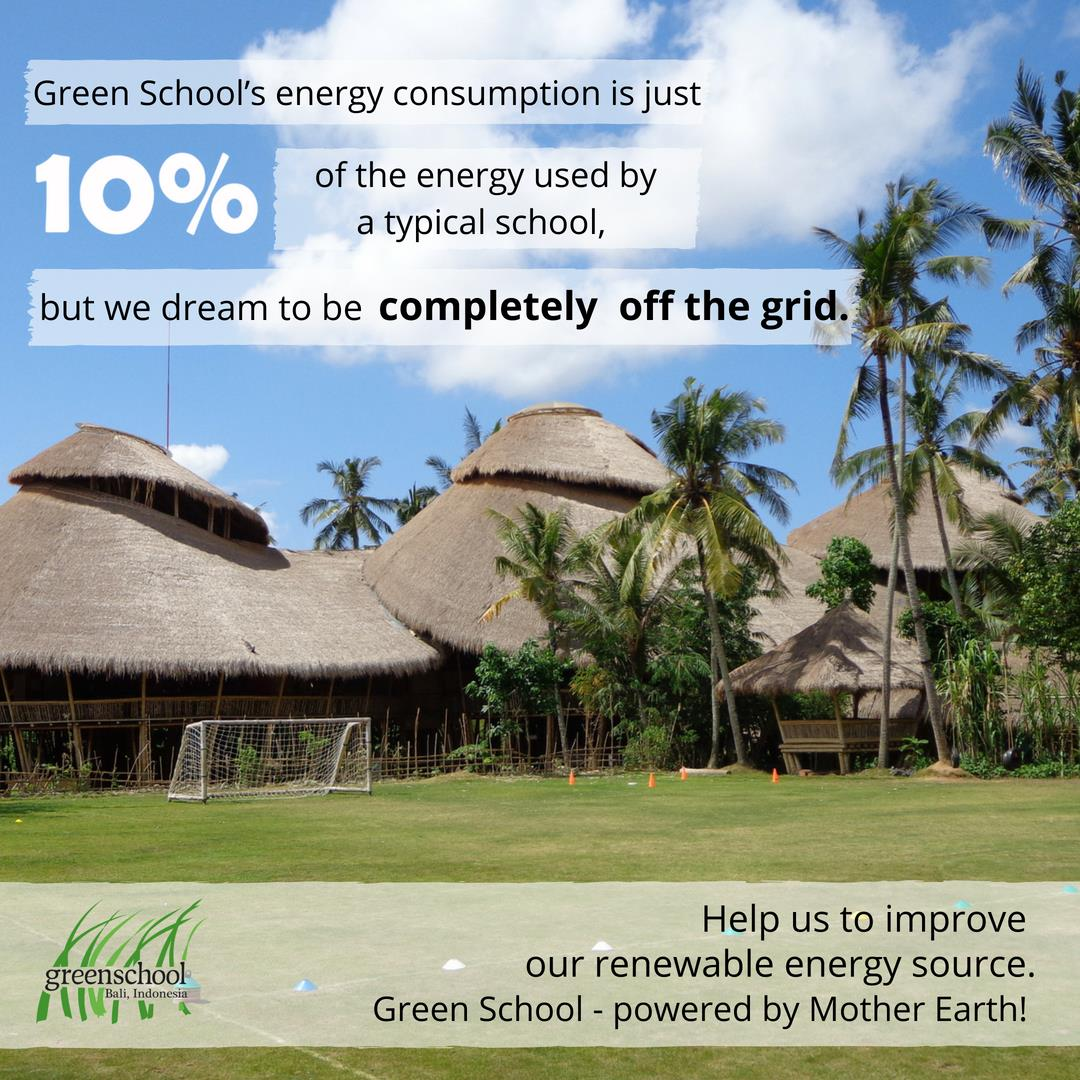 RT @GreenSchoolBali Green School uses only 10% energy than the typical school. We are improving our clean energy sources by generating renewable power & it is part of our learning program. Support us: https://t.co/EoMreFFuuN #thisisgreenschool #greenschool10 #changemakersnow