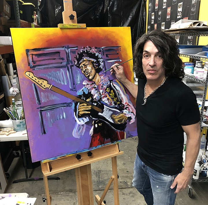 ME and my almost finished JIMI HENDRIX! We'll BOTH be at Wentworth Gallery at Phipps Plaza Atlanta, GA. SATURDAY JUNE 16th! Can't Wait! @artnet