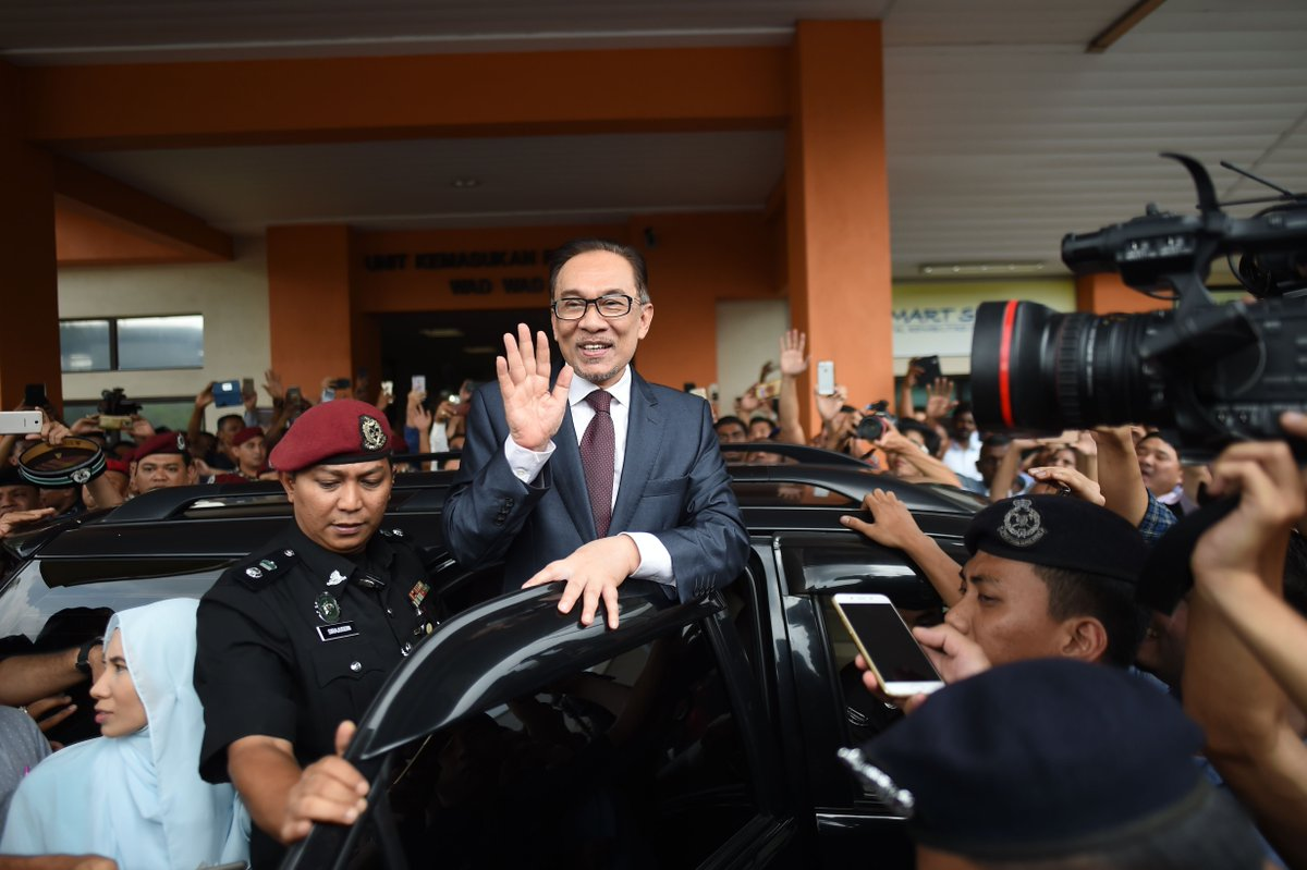 #Alert: Datuk Seri Anwar Ibrahim was discharged and released from the Cheras Rehabilitation Hospital at 11.33am. #DSAI