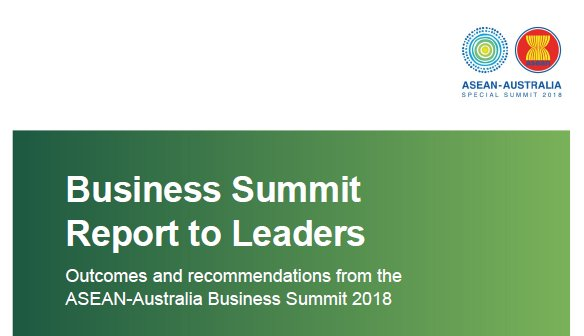 At the #ASEANinAus Business Summit, our regions business leaders used their expertise to develop policy recommendations for #ASEAN Leaders.  The Business Summit Report to Leaders outlines the recommendations. dfat.gov.au/about-us/publi…