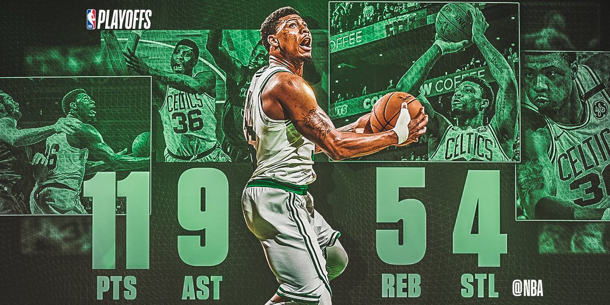 Marcus Smart did a little bit of everything, putting up 11 PTS, 9 AST, 5 REB, 4 STL to help the @celtics take a 2-0 series lead in the Eastern Conference Finals! #SAPStatLineOfTheNight
