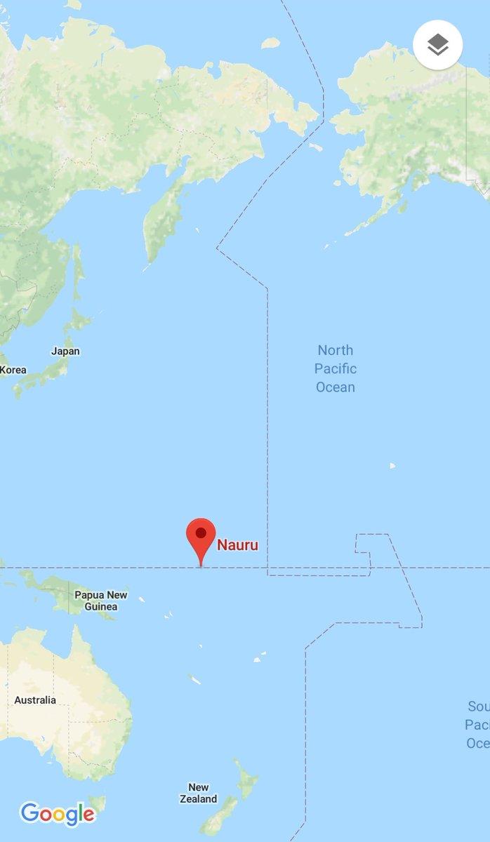 ALMuR on Twitter This is Nauru location