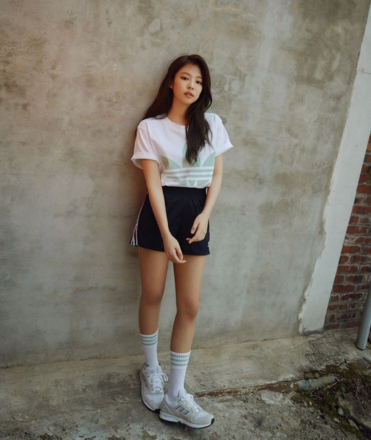 Photoshoot Jennie Kim X Adidas Celebrity Photos Onehallyu