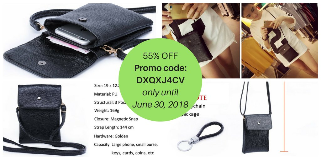 ... Small Crossbody Bag PU Leather Wallet Purse Women Cellphone Pouch w   Shoulder Strap + Katloo Nail Clipper -Only until June 30, ... f6b122fc86