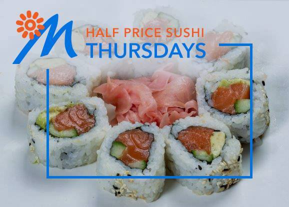 If you enjoy sushi, why not treat her to a delicious meal at #mediterraneanseafood situated in the Riverside Mall. Remember Thursdays means only one thing - 1/2 price sushi, just for you! #liveworkshopplay
