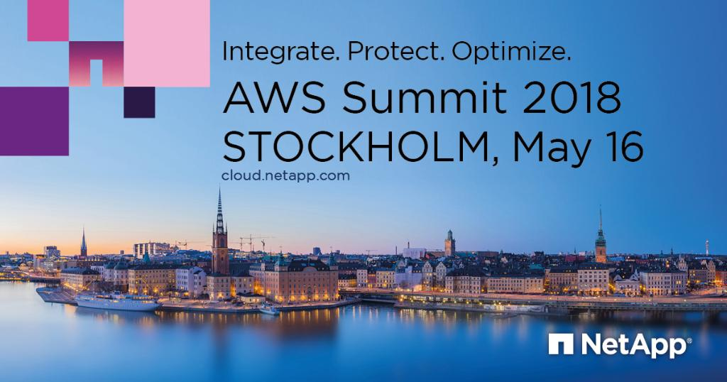 Did you know that @NetApp #Cloud Volumes for @AWS_UKI provides enterprise-class file services with #Flash performance? The team are at the #AWSSummit Stockholm discussing this and more!