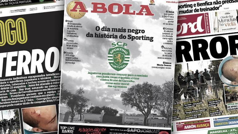 Sporting Portugal : de violents incidents et le chaos goo.gl/eKxRuW