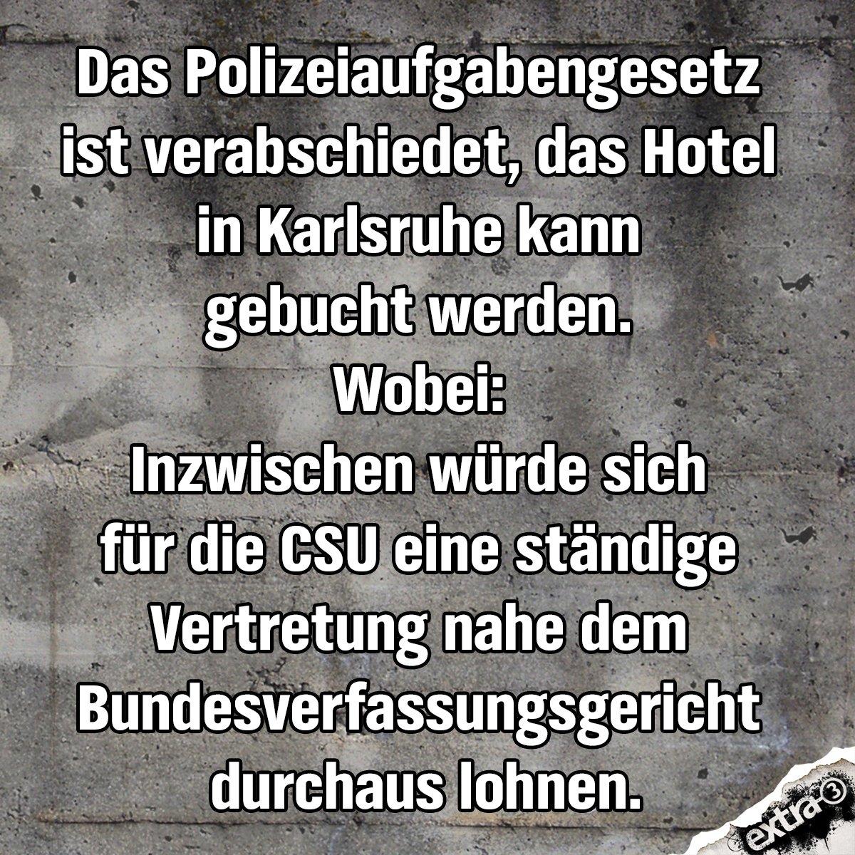 extra3's photo on #Polizeiaufgabengesetz
