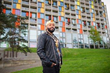 Magid Magid at the Park Hill flats
