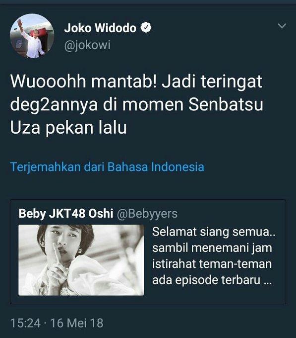 Cuitan akun Twitter Jokowi