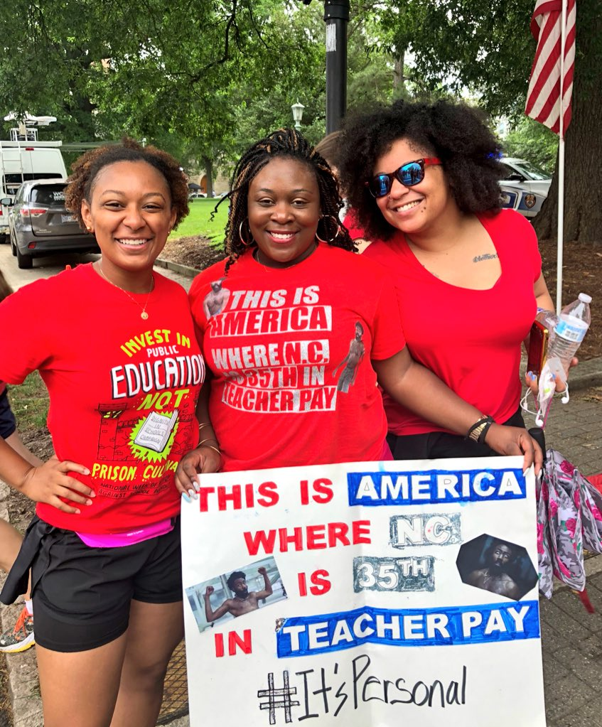 Supporting our educators at the March for Our Students/Rally for Respect! FUND PUBLIC EDUCATION! #RedForEd #StraightOuttaFunding #WeLovePublicSchools #NCAEStrong  <br>http://pic.twitter.com/SwzQb2FyPt