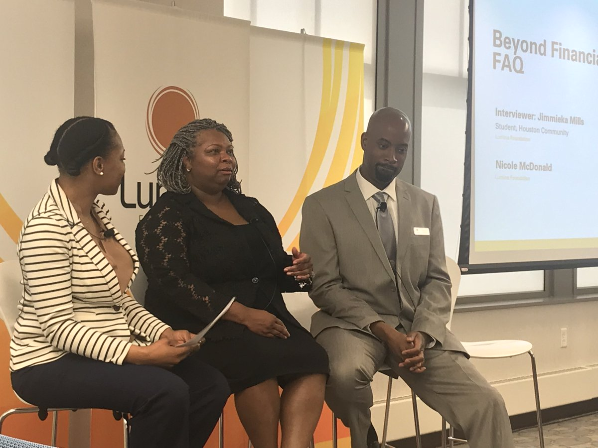 My @LuminaFound colleagues beautifully telling the origin story of #BeyondFinancialAid <br>http://pic.twitter.com/vrb1R9aZWz