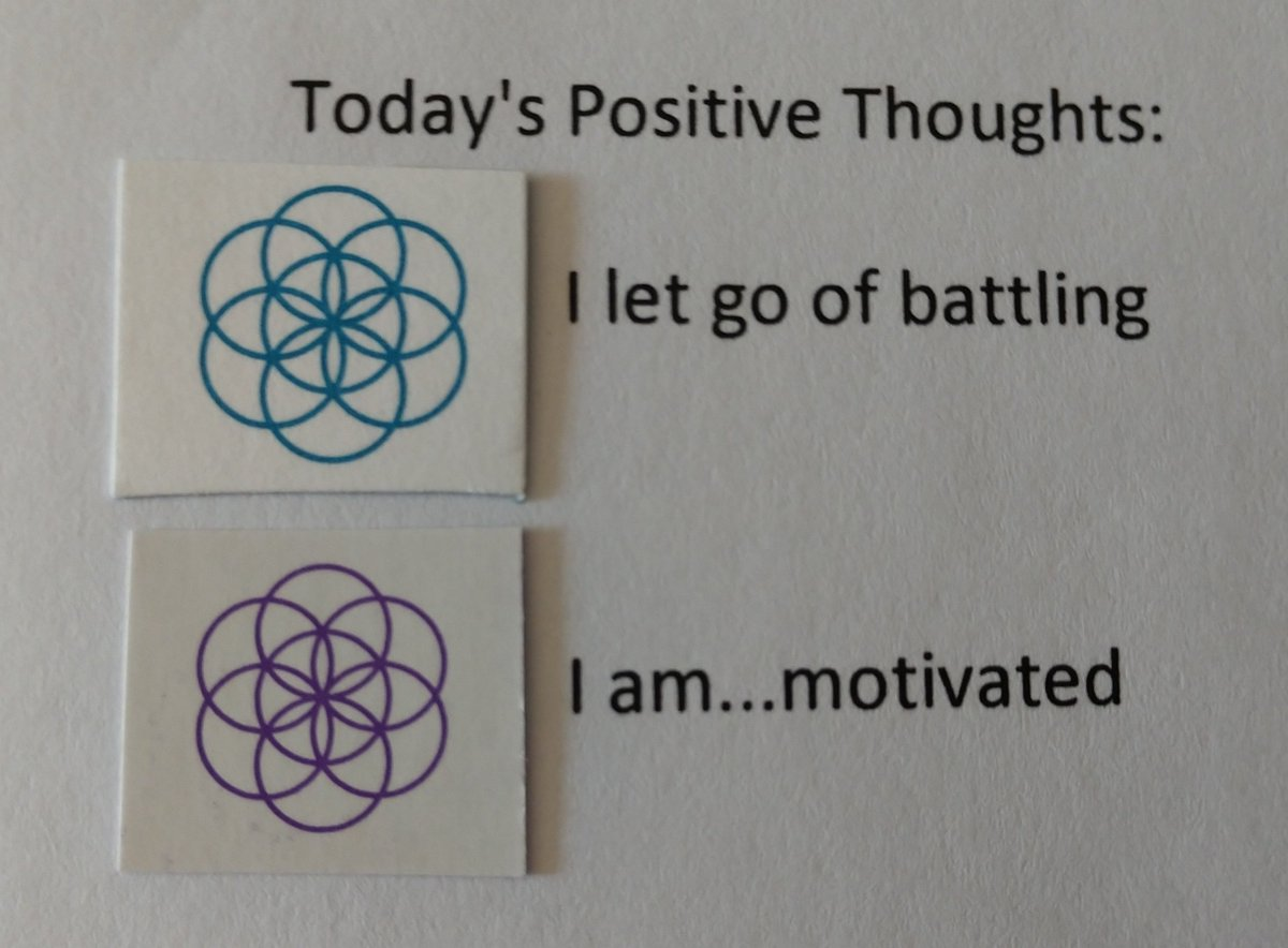 test Twitter Media - Today's Positive Thoughts: I let go of battling and I am...motivated. #affirmation https://t.co/r49BrUYKH4