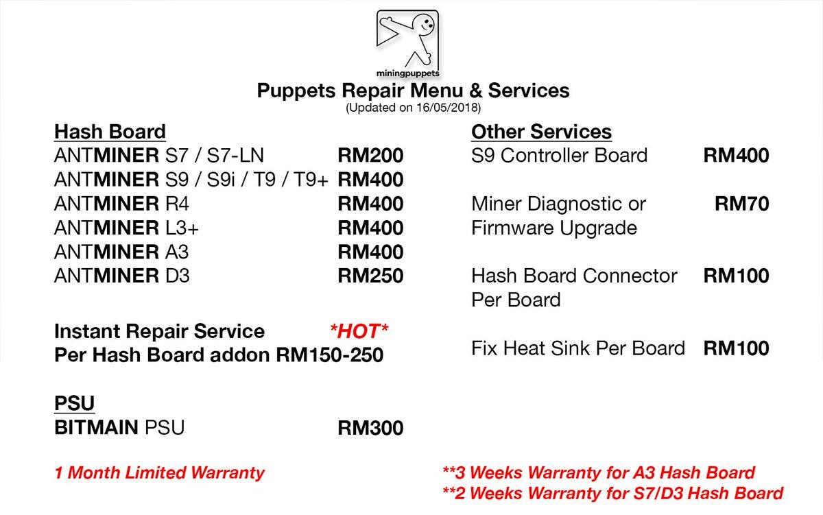 Antminer S9 Repair Guide
