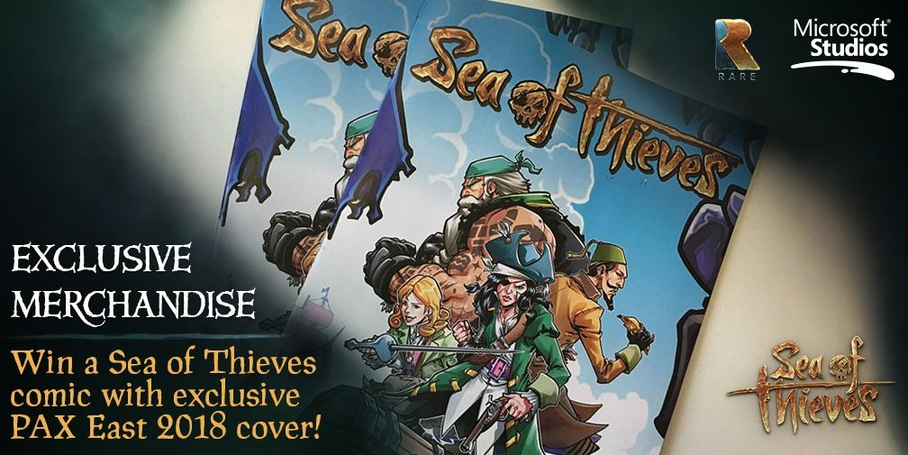Take a shot at winning some exclusive #SeaofThieves loot this #WinWednesday. To enter, simply follow us and retweet this tweet before 4PM BST tomorrow. Good luck!