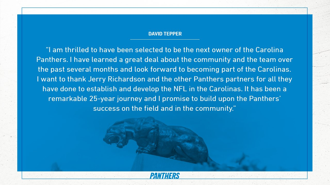 Panthers reach sales agreement with David Tepper   Full Story » https://t.co/yk1Cs7VNpp https://t.co/ss0tTOShiI