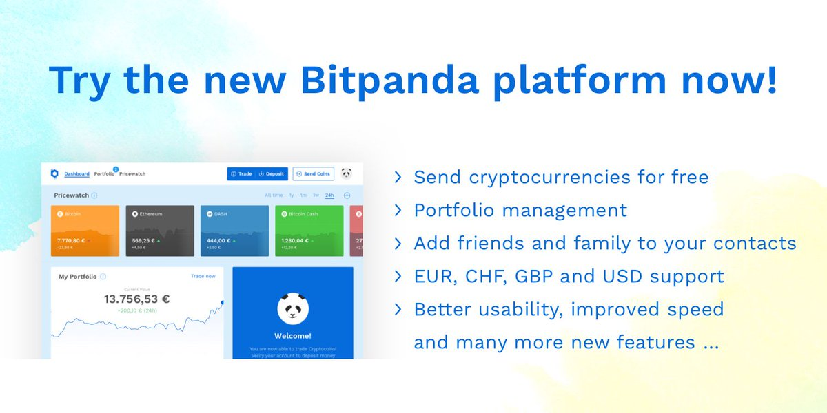 Try our brand new Bitpanda platform at beta.bitpanda.com now! The beta is limited to 500 users. First come, first served.