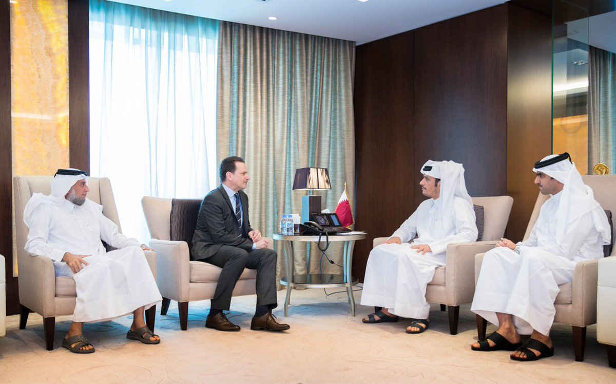 Very pleased to meet w/ H.E. @MBA_AlThani_ FM of Qatar today. Expressed sincere recognition for very generous contribution of $50 M to @UNRWA. At time of grave crisis this is a vital support to our education activities & efforts to keep 700 schools open. Highly value the trust.