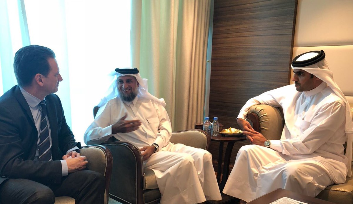 Rewarding discussion w/ UNSG Special Envoy A. Al-Mureikhi & DG of @qatar_fund, K. Al-Kuwari. Exploring innovative avenues to further stabilize @UNRWA financial situation & protect access to education for Palestine refugee students. Appreciate growing partnership.