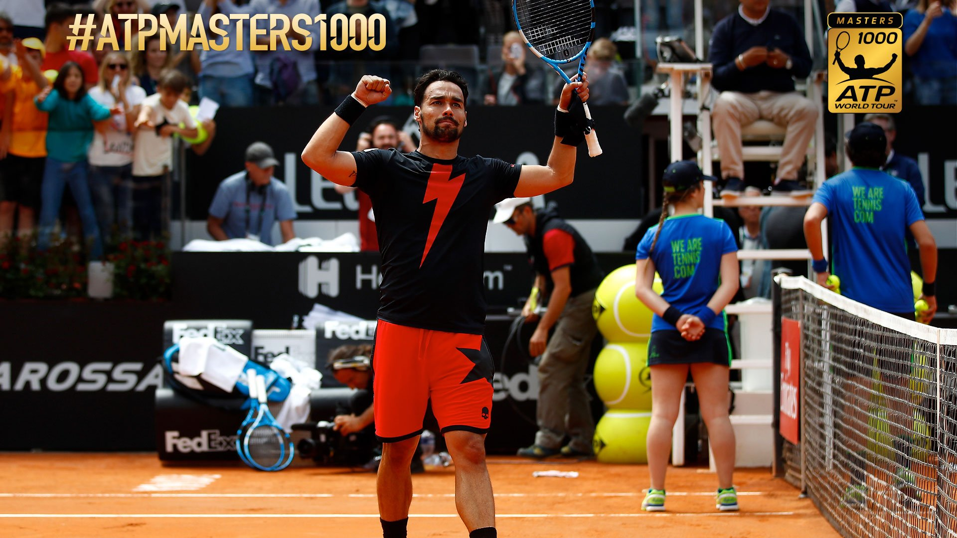 ����Fabio Fognini completes a thrilling victory over Dominic Thiem in Rome.   Read More: https://t.co/Yp502LGOvJ https://t.co/YXMTPCjRCu