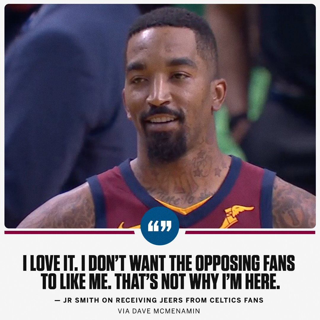 JR doesn't care what opposing fans think of him. https://t.co/18bqHInzgx