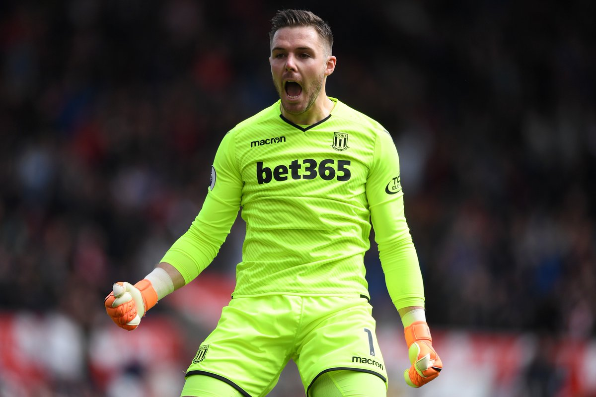 144 - Jack Butland made more saves than any other goalkeeper in the Premier League in 2017-18 (144). Busy. #ThreeLions
