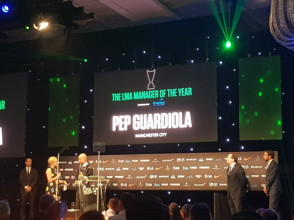 Great night at the @FootballManager table at the @LMA_Managers #Awards last night!