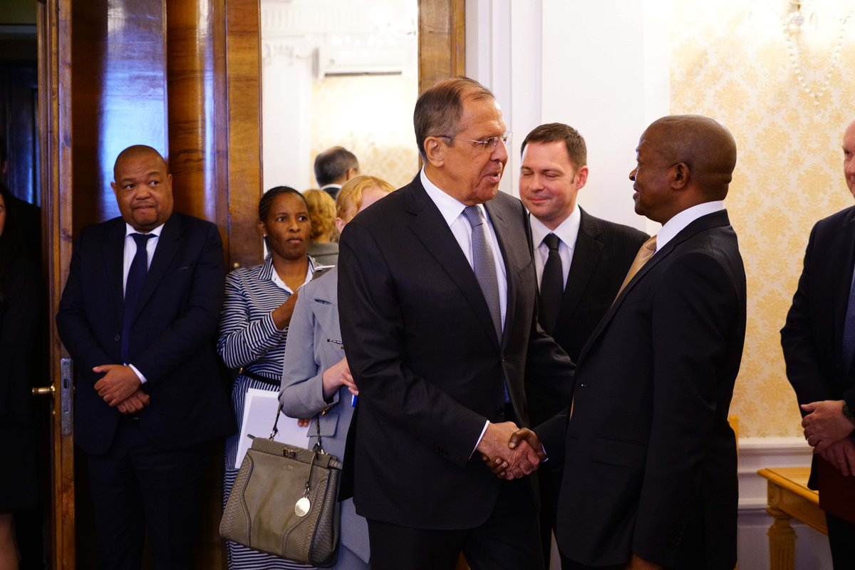 🇷🇺🇿🇦Sergey #Lavrov has met with the Vice President of South Africa David Mabuza in Moscow earlier today