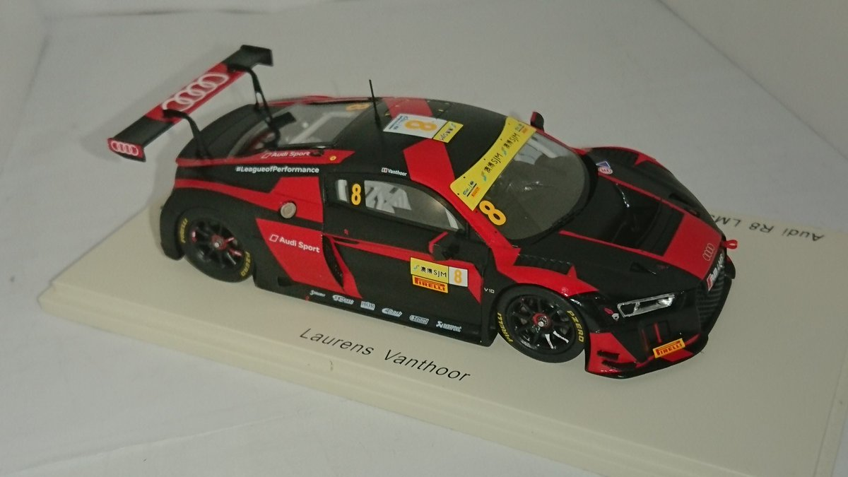 Laurens Vanthoor GT World Cup Macau 2016-1:43 Spark 43MC16 Audi R8 LMS