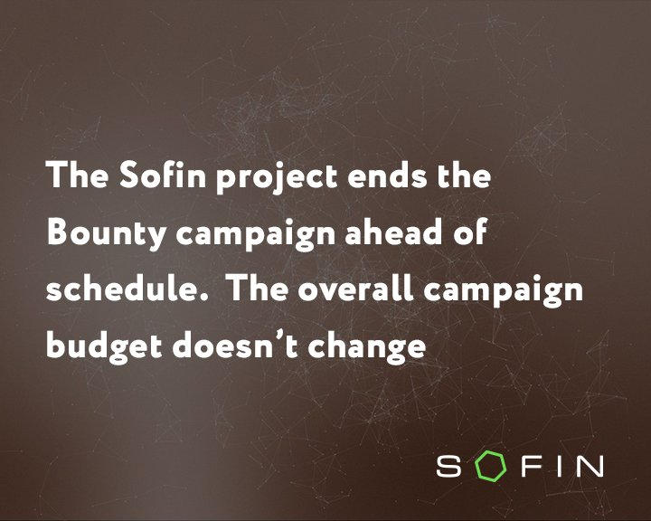 Dear friends!  The company Sofin announces the early completion of the bonus stage of the Bounty campaign...  Read more:  http:// amp.gs/kZAY  &nbsp;    Learn more about the project «Sofin» on our website:  https:// goo.gl/f4UFWm  &nbsp;    #sofin #blockchain  #bountycompany #investments #ico<br>http://pic.twitter.com/OXYh6G81yA