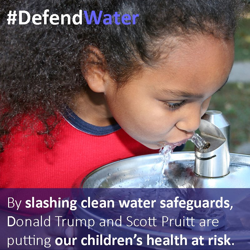 Congressional leaders are putting corporate polluters before kids health by trying to repeal the protections for drinking water, streams and wetlands through a #DirtyWaterRider on a bill to fund our government #ProtectCleanWater<br>http://pic.twitter.com/VG50CvGJjj