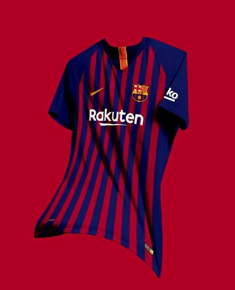 47e80746197 The new 2018 19 Nike home kit will be worn by FC Barcelona in the final La  Liga game of the season against Real Sociedad. What are your thoughts on  this ...